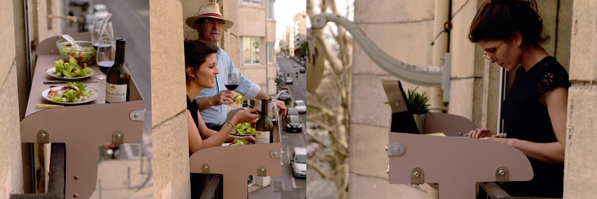 Table Pour Balcon Étroit bar à balcon : le baracood est un bar pour balcon et terrasse